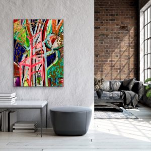 CHRISTI MERIL ARAT-THIS ONE'S DEDICATED TO YOU-DALLAS ABSTRACT EXPRESSIONIST-DALLAS ABSTRACT ARTIST-DALLAS CHAIR ART-1