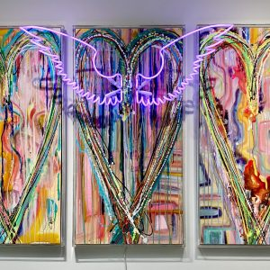 CHRISTI MERIL ART-IT'S A WONDERFUL LIFE-DALLAS ABSTRACT EXPRESSIONIST-DALLAS ABSTRACT ARTIST-DALLAS HEART ART-DALLAS NEON ART-DALLAS POP ART-1