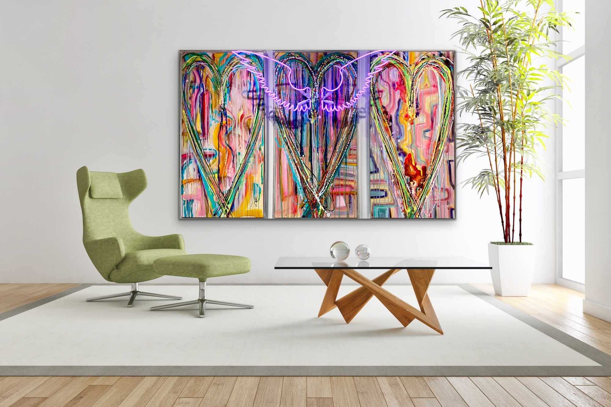 CHRISTI MERIL ART-IT'S A WONDERFUL LIFE-DALLAS ABSTRACT EXPRESSIONIST-DALLAS ABSTRACT ARTIST-DALLAS HEART ART-DALLAS NEON ART-DALLAS POP ART-2