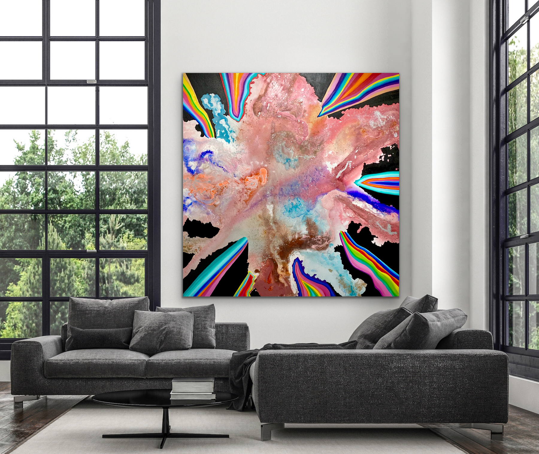 CHRISTI MERIL ART-STARDUST SOUL-DALLAS ABSTRACT EXPRESSIONIST-DALLAS ABSTRACT ARTIST-DALLAS LARGE ABSTRACT ART-2