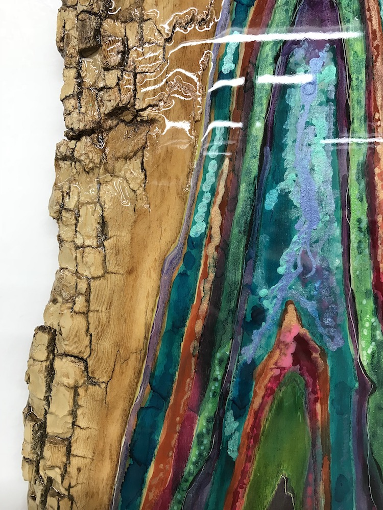 CHRISTI MERIL ART-BACKCOUNTRY GEM-DALLAS ABSTRACT EXPRESSIONIST-DALLAS ABSTRACT ARTIST-DALLAS SCULPTURE-DALLAS WOOD ART-RESIN ART-3